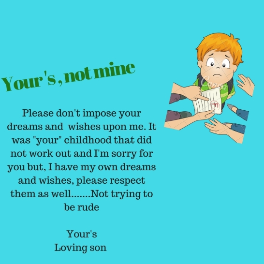 Your's not mine....